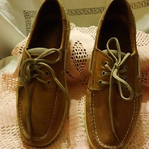 Men's Sperry Topsiders. Tan leather size 9.5
